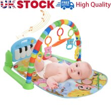 Baby Gym Play Mat Lay & Play 4 in 1 Fitness Music And Lights Fun Piano Boy Girls
