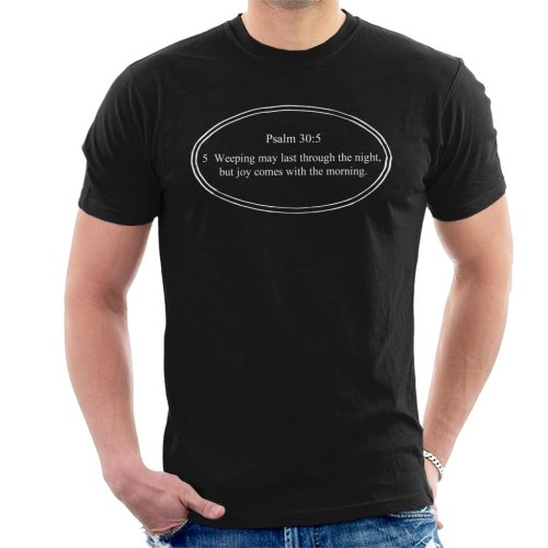 Religious Quotes Joy Comes With The Morning Men's T-Shirt