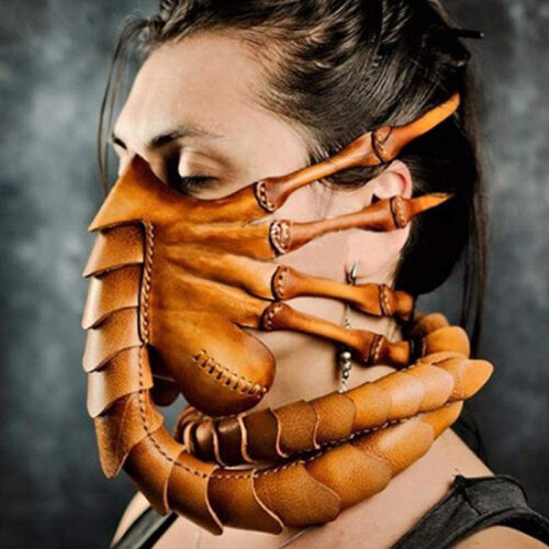 Halloween Funny Scary Face Mask Scorpion Mask Alien Facehugger Latex