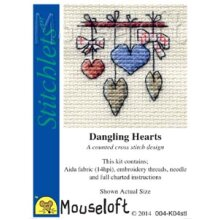 Mouseloft - Counted Cross Stitch Kit - Stitchlets Collection - Dangling Hearts