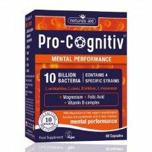 Natures Aid Pro-Cognitiv Mental Performance 10 Billion Bacteria - 60 Capsules