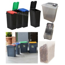 Plastic Recycling Bin Touch Top Recycle Bins Pet Food Storage Container