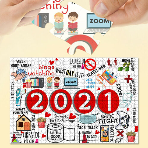 1000 Piece Jigsaw Puzzle 2021 Christmas Jigsaw Adult Children Toys Gift Ornament