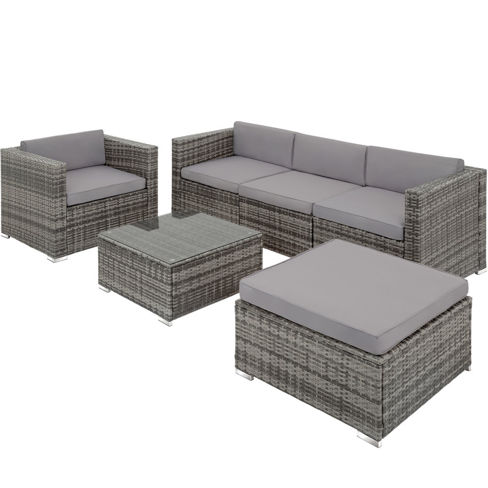 Rattan garden furniture Milano - grey