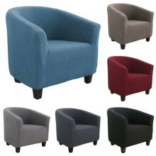 Tub Chair Covers Slipcovers Elastic Polyester Fabric Armchair Sofa Seat Cover UK