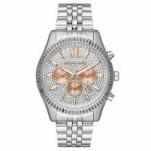 Michael Kors Lexington Ladies Formal Watch¦Crystal Pave Dial¦Chronograph¦MK8515