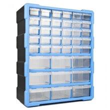 39 Drawer DIY Storage Organiser Unit Parts Box Stationary Cabinet