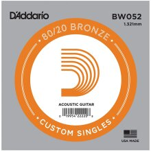 D'Addario BW052 Bronze Wound Single String Acoustic Guitar .052