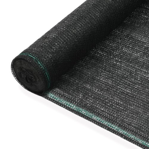 vidaXL Tennis Screen HDPE 1.2x25m Black Surround Privacy Windbreak Mesh Net