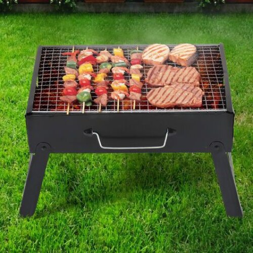 Outdoor Garden BBQ Fire Pit Folding Firepit Patio Barbecue Tool