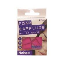 Noise-X Foam Bullet Shape Earplugs 2 Pairs X 6