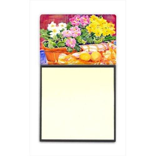 Flower - Primroses Refiillable Sticky Note Holder or Postit Note Dispenser, 3 x 3 In.