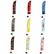 Outdoor Promotional Flags + Water tank base- Variety Designs to choose