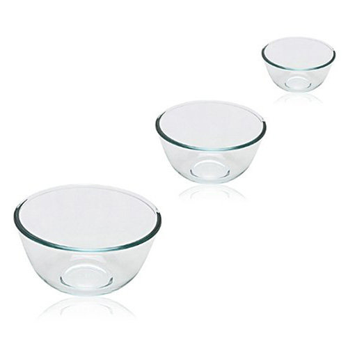 Pyrex Bowl Set, 0.5L/1.0L /2.0L, 3 Piece