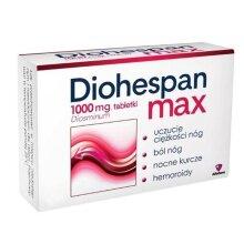 DIOHESPAN MAX 1000mg 30 TABLETS LEG FATIGUE