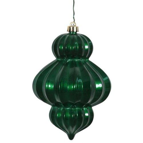 Vickerman N151824DCV Emerald Candy UV Drilled Lantern Ornament - 6 in. - 3 Per Bag