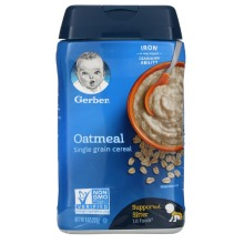Gerber, Oatmeal Cereal, Single Grain, 8 oz (227 g)