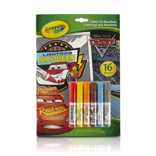 Crayola Cars 3 Colour By Numbers Book