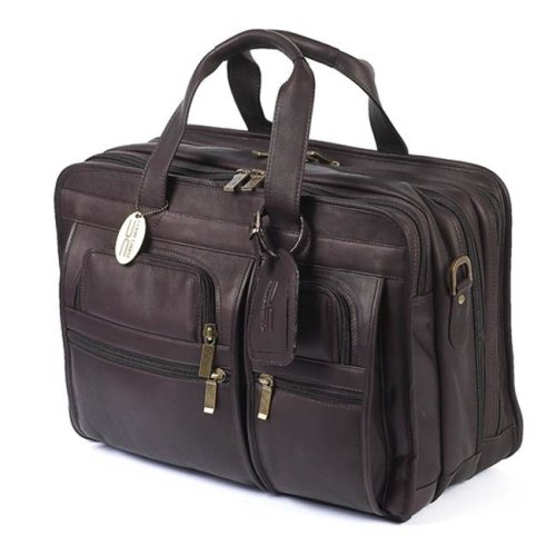 Claire Chase Executive Computer Leather Briefcase Computer Business Bag