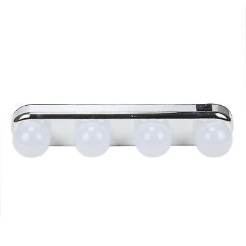 Silver Battery-Powered Super Bright LED Makeup Vanity Light