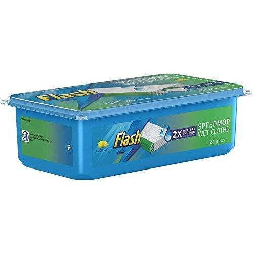 24 Pack Flash Speed mop Hygiene Mop Refill Wet Cloths Refills Lemon Speed Simple