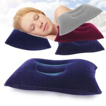 Portable Inflatable Pillow for Travel - Double Sided Air Cushion for Camp, Beach, Car, Plane, Hotel, Head, Rest Bed Sleep