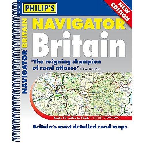 Philip's 2019 Navigator Britain Spiral Bound (Philips Road Atlas)