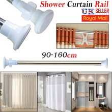 90-160cm Telescopic Shower Window Curtain Rail Rod