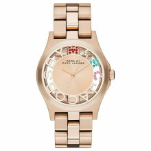 Marc Jacobs Henry Skeleton Ladies Watch¦Rose Gold Case¦Stainless Strap¦MBM3264