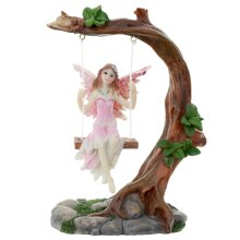 Collectable Flower Fairy Figurine - Swing