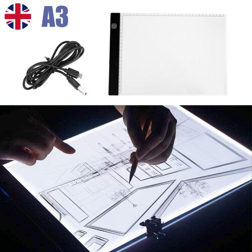 A3 LED Drawing Board Tracing Light Box Stencil Tattoo Copy Artist Craft Table