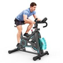 Dripex Magnetic Resistance Exercise Bike (2021 Version), Heavy Flywheel, LCD Monitor, Pulse Sensor, Ipad Holder