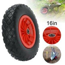 "PU Wheel 16 Inch 16"" 4.80-8 Tyre Puncture Proof Solid Wheelbarrow Cart"