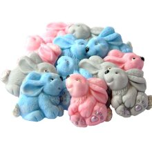 12 Edible Easter Baby Rabbits Baby Shower Cupcake Toppers