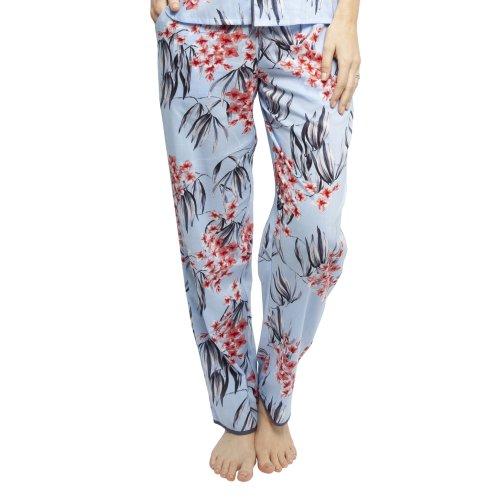 Cyberjammies 4389 Women's Olivia Blue Floral Print Cotton Pyjama Pant