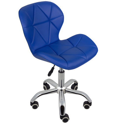 (Blue) Charles Jacobs Cushioned Swivel Office Chair