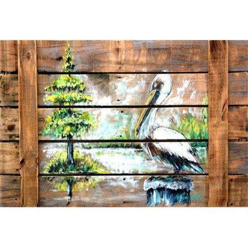 Summer by the Lake White Pelican Fabric Placemat