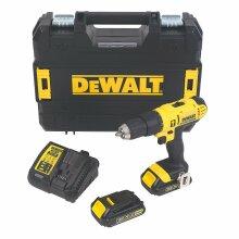 DeWalt XR 18V 1.3AH Li-Ion Combi Drill 2 Batteries DCD776S2T-GB