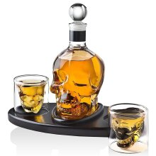 Creative Skull Glass Whisky Vodka Wine Crystal Bottle Cups. Transparent Wine Drinking Cups.