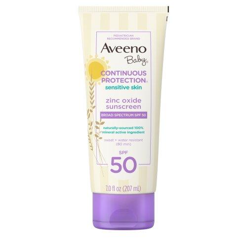 Aveeno Baby Continuous Protection Sensitive Skin Zinc Oxide Sunscreen SPF 50 7 fl oz