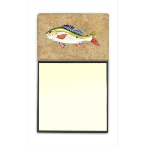Rainbow Trout Refiillable Sticky Note Holder or Postit Note Dispenser, 3 x 3 In.