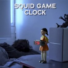 Squid game Alarm Clock Girls Figure Garage Kit Alarm Clock Horror Sound