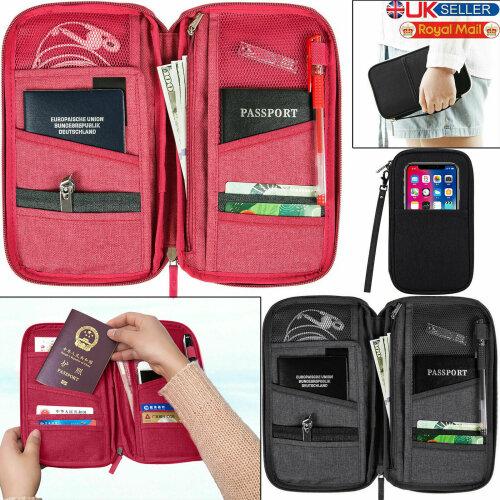 Travel Wallet Passport Holder RFID Organiser Pouch