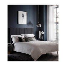 Karen Millen Pleat Detail White Super King Size Duvet Cover Set