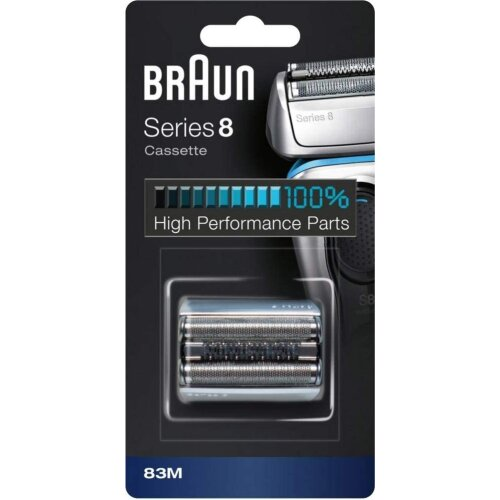 Braun Series 8 83M Electric Shaver Head Replacement - Silver - Compatible with Series 8