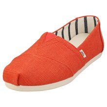 Toms Alpargata Heritage Womens Slip On Shoes in Paprika
