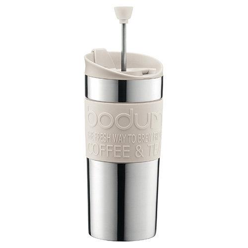Bodum Travel Press Set Coffee Maker - Off White
