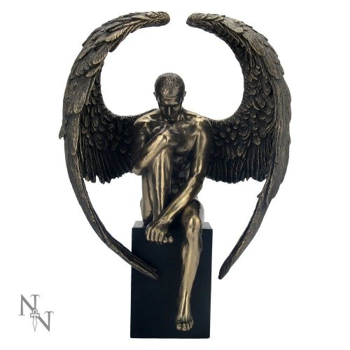 Nemesis Now Angel's Reflection Bronze Figurine Sculpture Ornament Statue 26cm