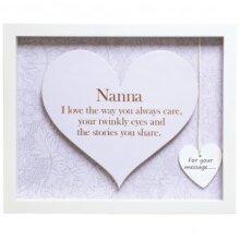 Sentiment Heart Frame - Rectangular - Nanna