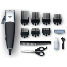 Philips Hair Clippers, Series 5000 Professional Hair and Beard Clipper with Adjustable Stainless Steel Blades, Corded, UK 3-Pin Plug - HC5100/13